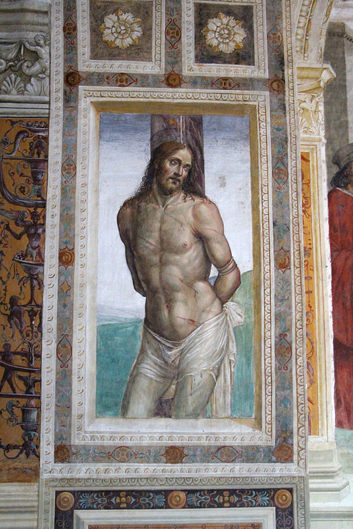 Storie di s. benedetto, 00 sodoma - gesù alla colonna 01