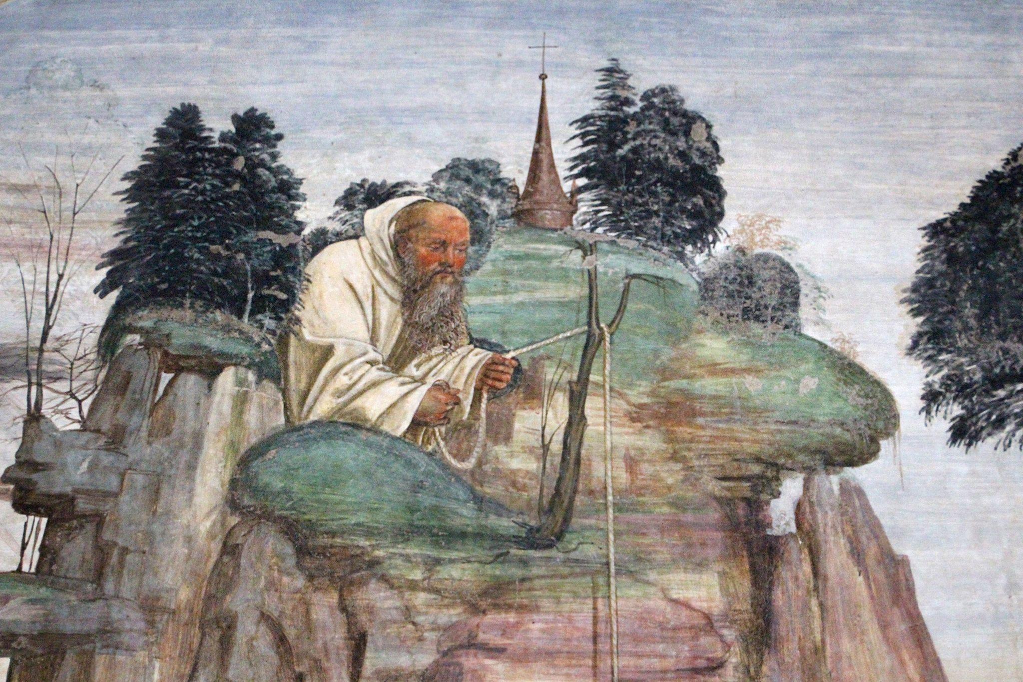 Storie di s. benedetto, 05 sodoma - Come lo dimonio rompe la campanella 03