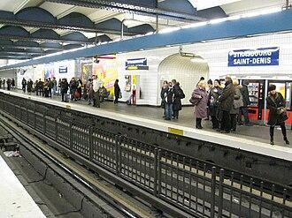 Strasbourg – Saint-Denis (Paris Métro) - Image: Strasbourg Saint Denis line 4 Métro Station 01