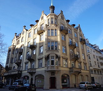 Neustadt (Strasbourg) - 1904 Art Nouveau houses on Rue Sellénick (picture taken in 2015)
