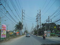 Street in Samut Prakan province, Thailand.JPG