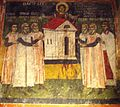 Sts. Theodore Tyron & Theodore Stratelates in Dobarsko Fresco of the Builders and Ktetors.jpg