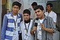 Sukanta Pal - Sumantro Mukherjee - Ayan Choudhury - Doordarshan Interview - Wikimedia Stall - 38th International Kolkata Book Fair - Milan Mela Complex - Kolkata 2014-02-07 8485.JPG