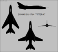 Sukhoi Su-17M4 four-view silhouette.png