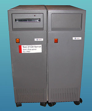 Sun-2 - Sun 2/120 server with SMD disk tower