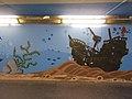 Sunken sailboat, street art 2016 at Fonyód train station in Hungary.jpg
