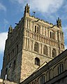 Sunlit tower, Tewkesbury Abbey - geograph.org.uk - 1037432.jpg