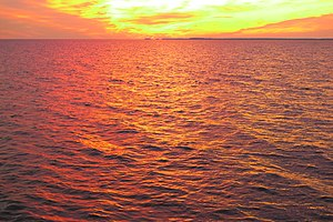 Chesapeake Bay - View of the Eastern Bay in Maryland at sunset