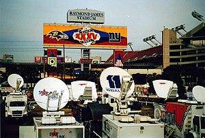 Super Bowl XXXV - The broadcasting compound at Super Bowl XXXV