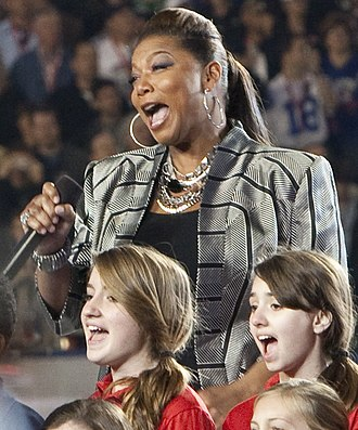 Queen Latifah - Latifah performing God Bless America at Super Bowl XLIV in 2010