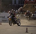 Supermoto riders at EICMA Milan Italy 2007.jpg