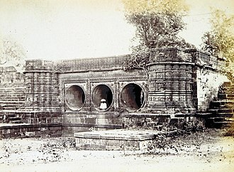 Kankaria Lake - The supply sluice of Kankaria Lake, 1866