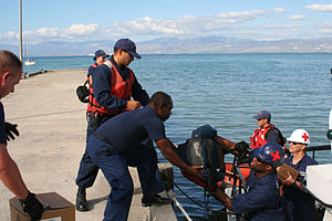Humanitarian response to the 2010 Haiti earthquake - Rescue supplies delivered to Haiti from US Navy ships