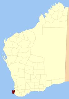 Sussex Land District Cadastral in Western Australia