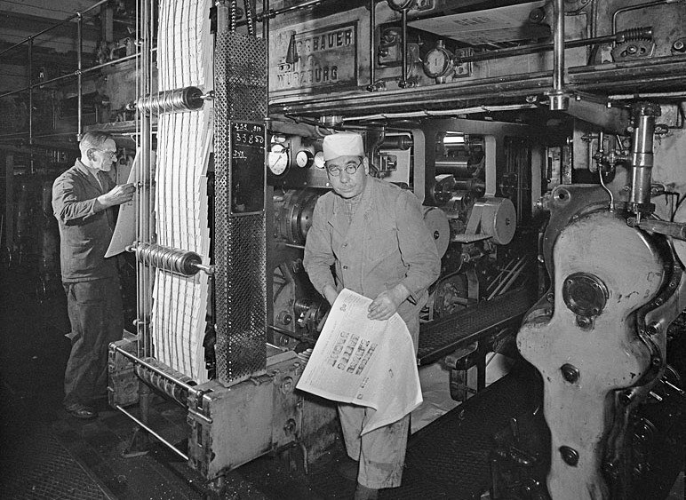 Svenska Dagbladets tryckeri 1951
