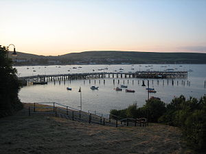Swanage Pier - Swanage Pier at dusk