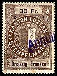 Switzerland Lucerne 1897 revenue 6 30Fr - 68 - E 1 97.jpg