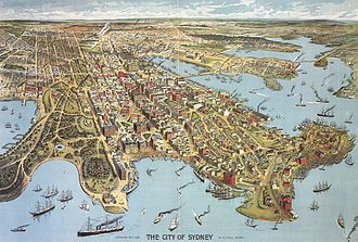 Aerial illustration of Sydney, 1888 Sydney 1888.jpg