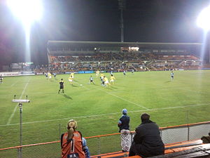 Women's soccer in Australia - Sydney playing Central Coast Mariners in a 2007 pre-season friendly match