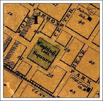 Northside, Syracuse - Washington Park in Syracuse, New York in 1860 map
