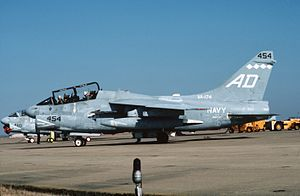 Second VA-174 (U.S. Navy) - An VA-174 TA-7C at NAS Dallas in 1988.