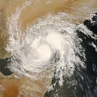 Remnants of hurricane ARB 02 over Yemen