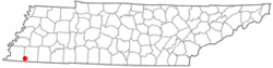 Location of Piperton, Tennessee