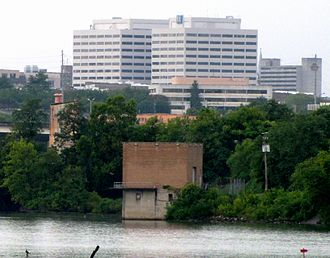 Tennessee Valley Authority - TVA Towers, TVA's headquarters in downtown Knoxville, overlooking the Tennessee River