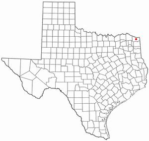New Boston, Texas - Image: TX Map doton New Boston