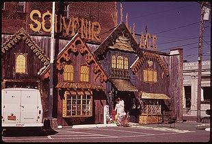 Tourist souvenir shop in Old Forge, 1973
