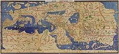 Muhammad al-Idrisi's Tabula Rogeriana (1154), one of the most advanced early world maps