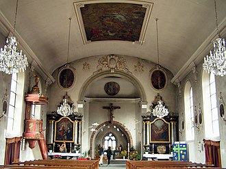 Tafers - Interior of the parish church of St. Martin