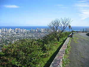 Tantalus (Oahu) - A view of Honolulu seen from Tantalus (2008)