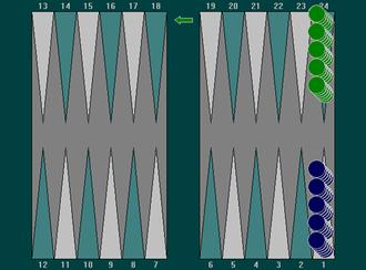 Plakoto - Plakoto starting layout