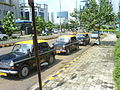 Taxi rank outside the State Bank of India office in Bandra Kurla Complex.jpg