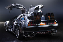 A Back View Of The DeLorean Time Machine