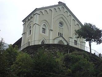 Angrogna - the waldensian temple in Pra del torno.