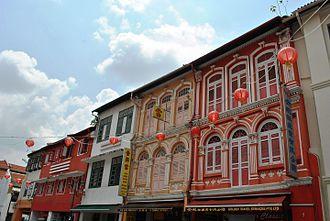 Temple Street, Singapore - Temple Street, Singapore, shophouses