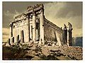 Temple of Jupiter, leaning column, Baalbek, Holy Land, (i.e., Ba'labakk, Lebanon)-LCCN2002724955.jpg