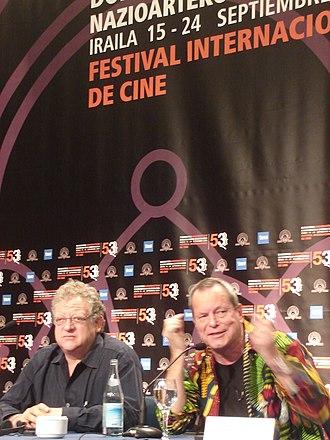 Tideland (film) - Jeremy Thomas (left) and Terry Gilliam at San Sebastián Film Festival 2005. Press conference on Tideland.
