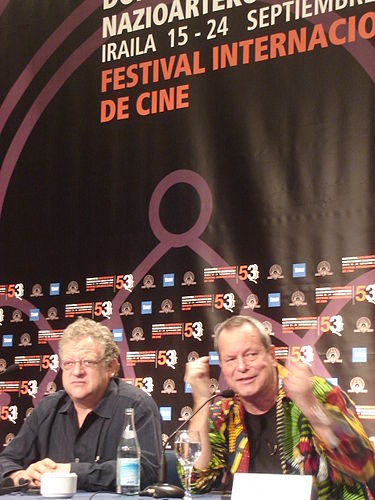 Jeremy Thomas (left) and Terry Gilliam at San Sebastian Film Festival 2005. Press conference on Tideland. TerryGilliamSanSebastian2005.jpg