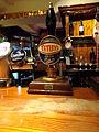 Tetley's Cask bitter pump, New Inn, Westgate, Wetherby (1st December 2013).JPG
