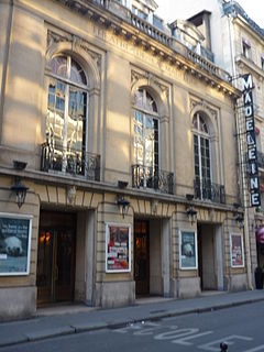 Théâtre de la Madeleine theatre in Paris, France