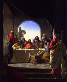 Last Supper Carl Bloch In Some Depictions John The Apostle Is Placed On Right Side Of Jesus To Left