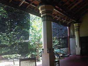 Charles Edgar Corea - The ancient Verandah at Edirille Gedera, the home of C.E.Corea.