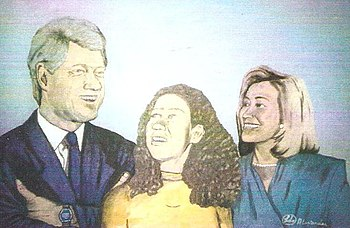 """Clinton Family Portrait"", an ""..."