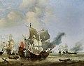 The Burning of the 'Andrew' at the Battle of Scheveningen, by Willem van de Velde the younger WLC P77-001.jpg