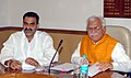 The Chief Minister of Haryana, Shri Manohar Lal Khattar meeting the Minister of State for Agriculture, Dr. Sanjeev Kumar Balyan, in New Delhi on March 27, 2015.jpg