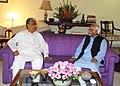 The Chief Minister of Tripura, Shri Manik Sarkar called on the Vice President, Shri Mohd. Hamid Ansari, in New Delhi on April 18, 2013.jpg