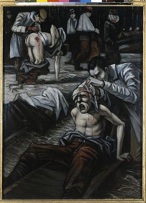 Christopher R. W. Nevinson - The Doctor (1916) (Art.IWM ART 725)